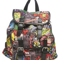 Comic Print Backpack | Wet Seal