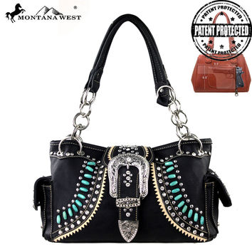 Montana West MW165G-8085 Buckle Handbag