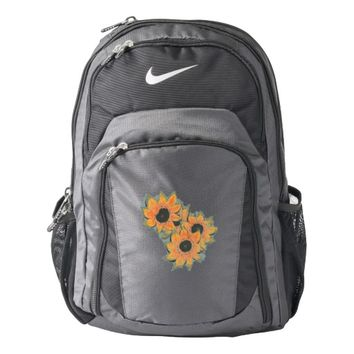 Sunflower Art Custom Nike Backpack