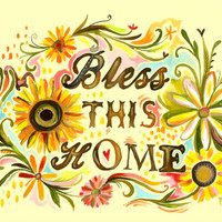 Bless this Home | Canvas Wall Art