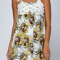 Lace and sunflowers babydoll dress
