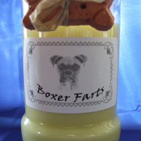 Boxer Farts Candle in a Recycled Liquor Bottle - 10oz