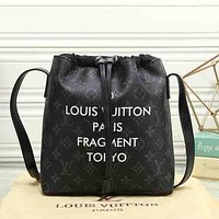 Perfect Louis Vuitton Women Fashion College Leather Satchel Bookbag Backpack