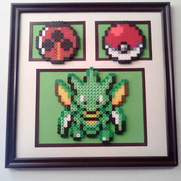 Pokemon Scyther Triple Mat Wall Frame
