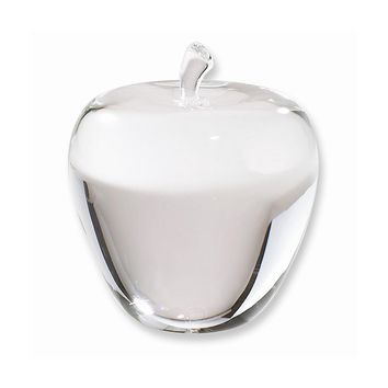 Optic Crystal Apple Paperweight - Perfect Nurse Gift