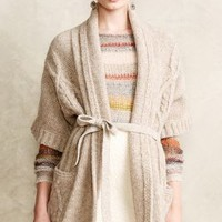 Divvied Cable Cardi by Moth Neutral