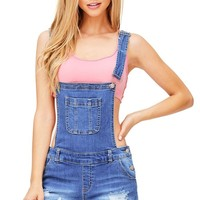 Cove Denim Short Overalls
