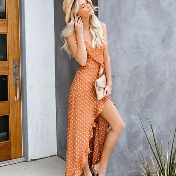 Song + Dance Polka Dot Ruffle Maxi Dress - FINAL SALE