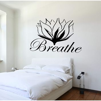 Wall Decal Buddha Yoga Lotus Meditation Vinyl Sticker Unique Gift z3263