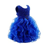 Baby Toddler Girl Dress Flower Princess Wedding Infant Party Pageant Fancy Cute TUTU Dress