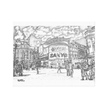 Piccadilly Circus London UK Canvas Print