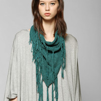 Staring At Stars Boho Fringe Snood Scarf - Urban Outfitters