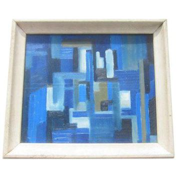 Pre-owned 1950's Cubist Modernist Abstract Painting
