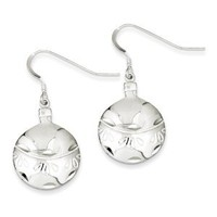 Sterling Silver Christmas Ornament Earrings