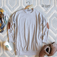 Cozy Sweatshirt Dress in Gray