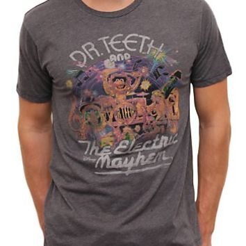 The Muppets Dr. Teeth and The Electric Mayhem Vintage Inspired Heather Tee - Men's Sale - All - Junk Food Clothing
