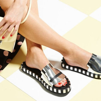 Indie Designs Acne Studios Inspired Wilma Leather Slides Sandals