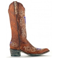 "Gameday Boots Womens 13"" Leather University Of Washington Cowboy Boots"