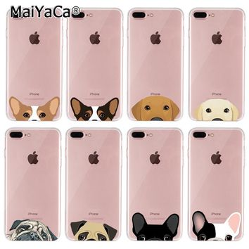 MaiYaCa  silicone Soft Phone Accessories Cover For iPhone 8 plus Case dogs puppy animal case for funda iphone 8plus case