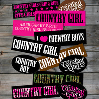 12 pc. Bumper Sticker Collection - Country Fashion Clothing