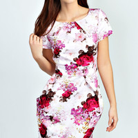 Kerry Floral Pleat Detail Dress