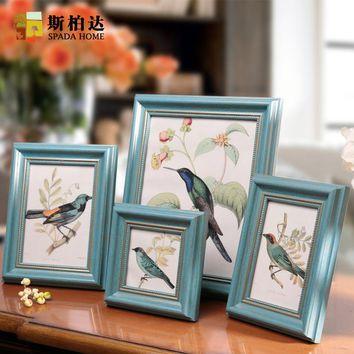 Free Shipping Cheap Photo Frame,4/5/6/7 inch Photo Frames,Green Coffe 4 Colors White Picture Frames