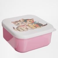 Square Kitten Lunch Box