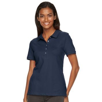Women's Croft & Barrow® Classic Solid Polo