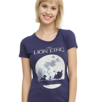 Disney The Lion Full Moon Silhouette Girls T-Shirt