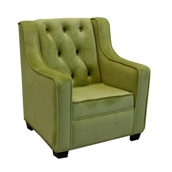 Komfy Kings, Inc 13003 Newco Kids Baby 22.75-Inch Lime Velvet Grand Chair