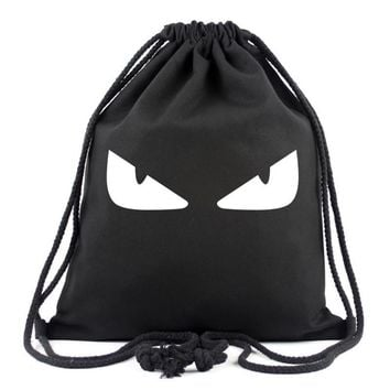New Gengar Backpacks Skull Drawstring Bags Devil Eyed Leaf Luffy White Beard Super Man Batman American Captain Bag For Teenagers