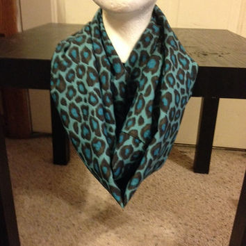 Blue/Green Leopard Infinity Scarf from Nicole Ray