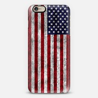 American Grunge Flag iPhone 6 case by Alice Gosling | Casetify