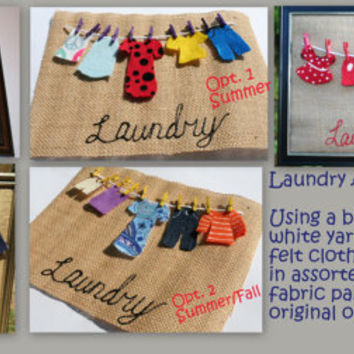 Burlap and Felt Laundry Art