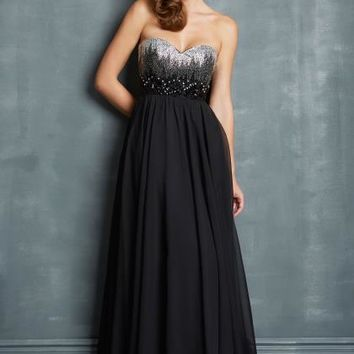2014 Night Moves Sequins Top Prom Dress 7048