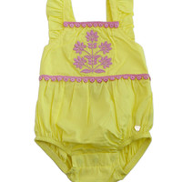 Juicy Couture Poplin Neon Yellow Romper - JCTNG0441-FINAL SALE