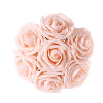 Blush Artificial Flowers 50pcs Real Looking Roses with Stems for Wedding Bouquets Centerpieces Party Baby Shower Decorations DIY
