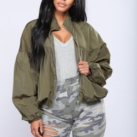FreeFalling Windbreaker - Olive
