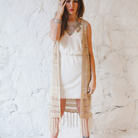 Far Out Maxi Fringe Vest - American Threads
