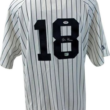 ONETOW Don Larsen Signed Autographed New York Yankees Baseball Jersey (PSA/DNA COA)