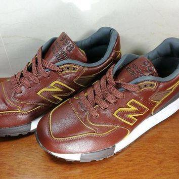 LMFON men s casual running new balance imported top level leather shoes