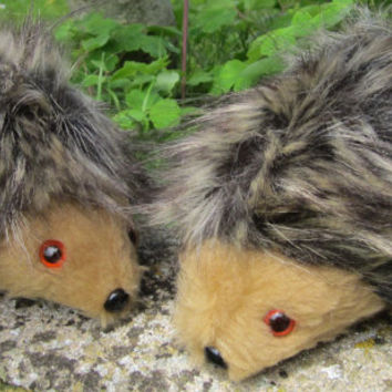 Toy Baby Hedgehog Unisex Animal Doll Flecked Brown Plush Faux Fur Light Brown Fleece COLDHAMCUDDLIES Stocking Stuffer Christmas Present