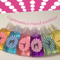 Gymnastics Party Favors-Gymnastics Hand Sanitizer-Gymnastics Hand Wash-Gymnastics Party Supplies-Set Of 6