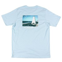 Seaside Tower Tee in Light Blue by Southern Point Co. - FINAL SALE