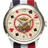White King Suit Painted Face Vintage Omega Watch by CMT Fine Watch and Jewelry Advisors - Moda Operandi