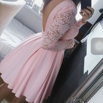 HOT PINK WHITE LACE DRESS Pink