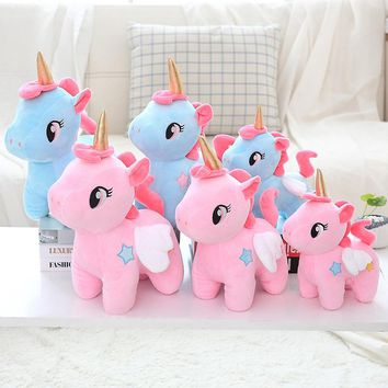 Cute Plush Toy Soft Unicorn Doll nice Appease Sleeping Pillow Kids Room Decor Toy For Children Pupil Christmas Halloween present
