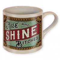 """RISE AND SHINE"" COFFEE MUG BY TRIXIE & MILO"