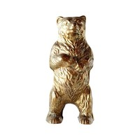 Antique Brass Bear Bank Figurine