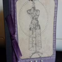 Altered Mini Composition Book-Dressform